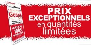 Prix Exceptionnels Géant Casino