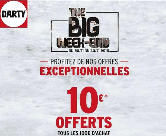 the big week end darty black friday jusqu 50 10 offerts tous les 100 les bons plans. Black Bedroom Furniture Sets. Home Design Ideas