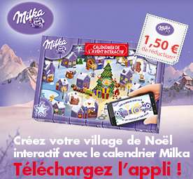 bon de reduction Calendrier de l'avent Milka interactif