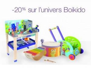 code promo jouets en bois Boikido