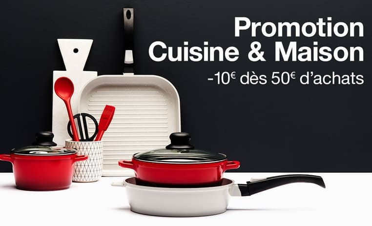 offre Promotion de Noel sur le rayon Cuisine et Maison 10 euros immediat