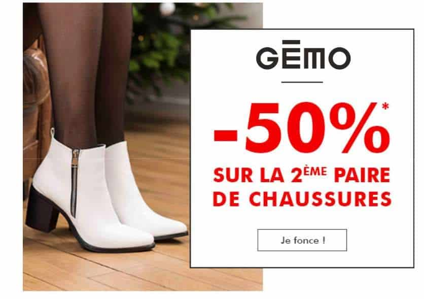 on plan Chaussures Gémo la seconde à moins 50%