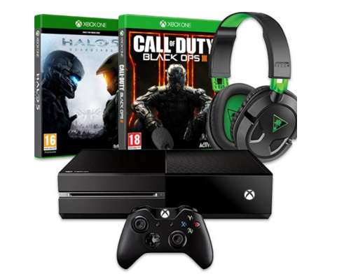 pack Xbox One 500Go Call of Duty Black Ops III Halo 5 Microcasque