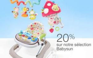 remises sur les jouets d'éveil et puériculture Babysun