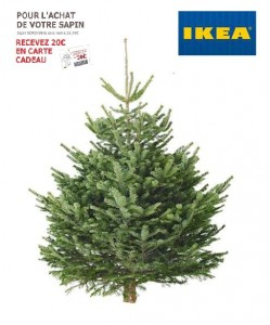achetez r servez votre sapin de noel ikea 2015 4 99 24 99 1 bon de 20 offerts. Black Bedroom Furniture Sets. Home Design Ideas