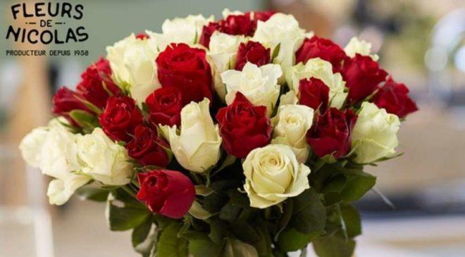 Bouquet moitié prix 45 roses rouges