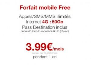 Forfait Free Mobile 50Go