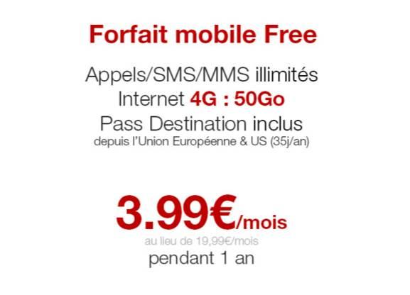 forfait free mobile 50go en illimit s 3 99 mois vente. Black Bedroom Furniture Sets. Home Design Ideas