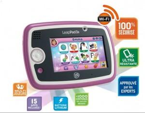 Tablette LeapPad Rose 3x LeapFrog pas chère