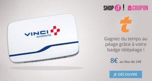 Télépéage badge Vinci Temps Libre 8€ au lieu de 24€