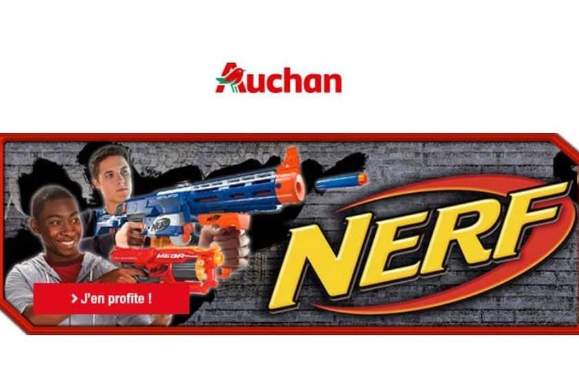 crédit sur carte Auchan pour achat d'un jouet Nerf