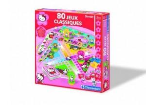 mallette de 80 jeux classiques Hello Kitty de Clementoni