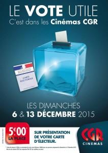 offre spéciale élection régionale 2015 CGR cinéma