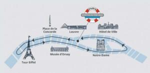 parcour de la croisière sur la Seine