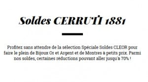 Bijoux CERRUTI 1881 demarques