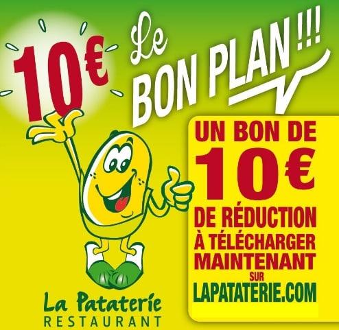 Coupon -10€ La Pataterie