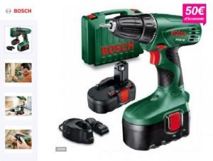 Perceuse visseuse Bosch sans fil PSR18