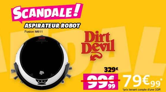 moins de 70 euros l aspirateur robot dirt devil m606 port inclus a partir de 119 euros ailleurs. Black Bedroom Furniture Sets. Home Design Ideas