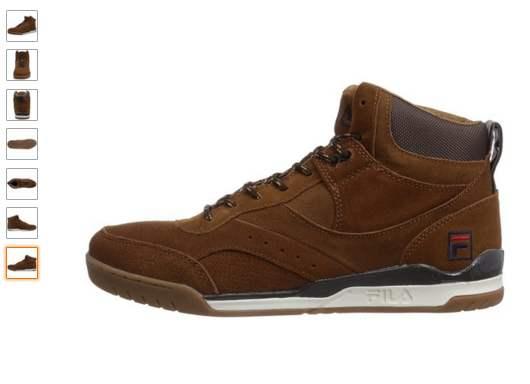 chaussures montantes en cuir Fila en soldes
