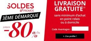 demarque soldes 3Suisses livraison gratuite