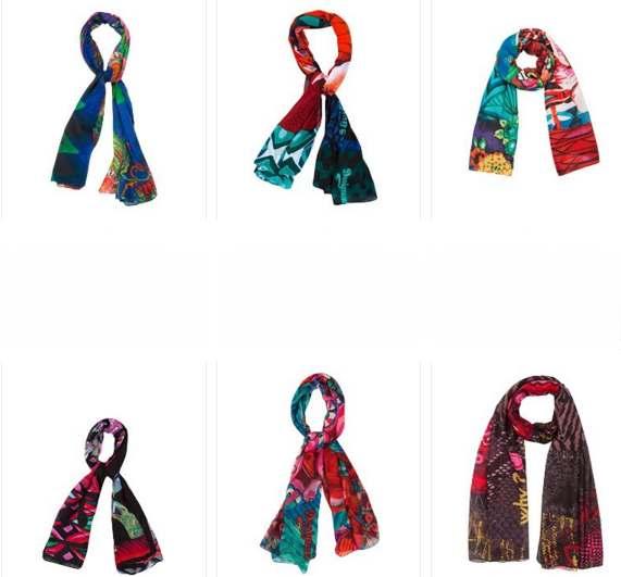 des dizaines de foulards desigual pas chers sur amazon partir de seulement 18 bons plans. Black Bedroom Furniture Sets. Home Design Ideas