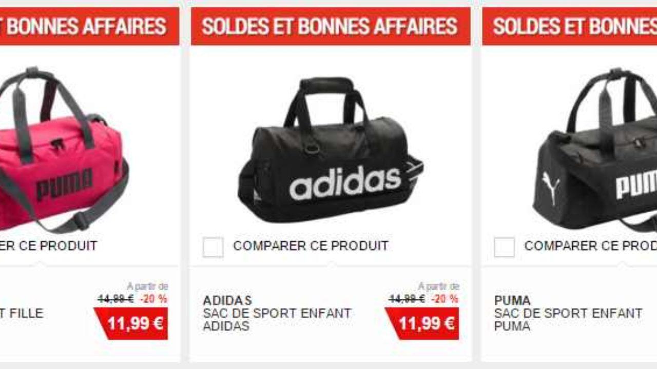 e6a04d55d4985 Moins de 12€ le sac de sport Adidas ou Puma (Rose ou Noir)