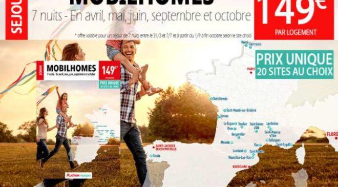 149€ le séjour en mobil-homes pour 4 6 pers – 7 jours