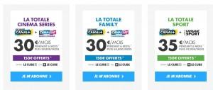 Canal plus 150 euros