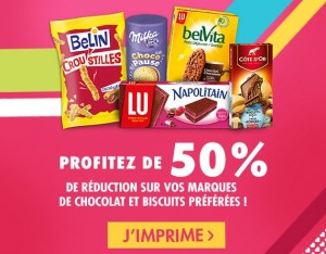 Coupons de réduction LU, Oreo, Belin, Cote d'or