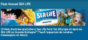 Pass annuel Sea Life Paris pas cher