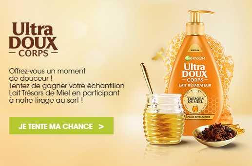 échantillon Lait Trésors de Miel Ultra doux Garnier