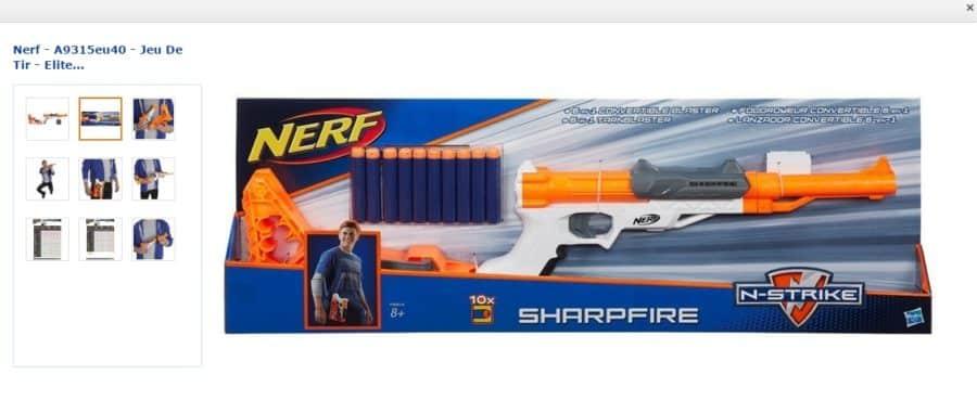 Pistolet Nerf Elite Sharpfire à 10,83€ au lieu du double - Bons Plans Malins 1c99c217d7e
