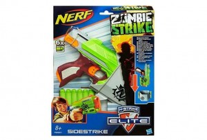 pistolet Sidestrike Zombie Strike Nerf à moitié prix