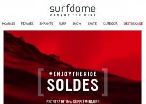 remise sur les soldes Surfdome