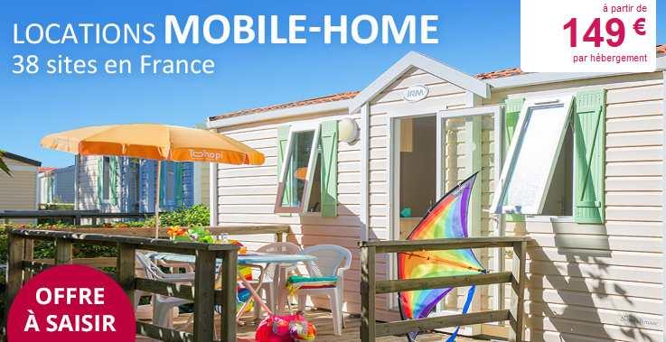 149 le mobile home pour 1 semaine la mer campagne ou montagne avec leclerc voyages bons. Black Bedroom Furniture Sets. Home Design Ideas