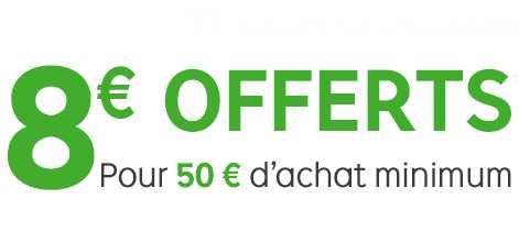 8 euros offerts Priceminister