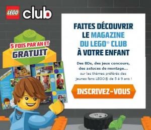 Abonnement gratuit LEGO Club magazine