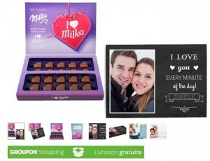 Coffret chocolat Milka Love personnalisable