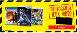 Déstockage jeux vidéo Auchan