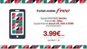 Forfait Free Mobile 50Go vente privée