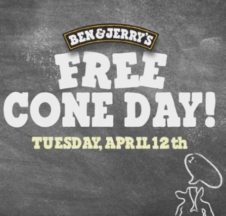 Free Cone Day Ben & Jerry's 2016