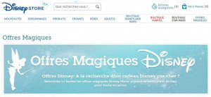 Offres magiques Disney Store