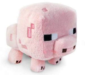 Peluche Cochon Minecraft a gagner