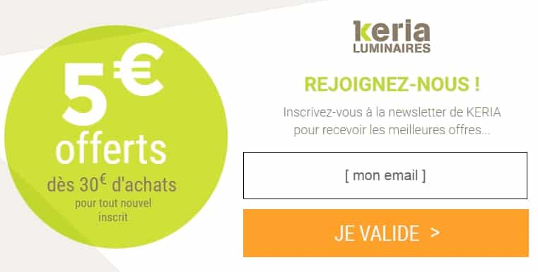 remise sur keria luminaire 5 d s 30 d achat et autres remises bons plans malins. Black Bedroom Furniture Sets. Home Design Ideas
