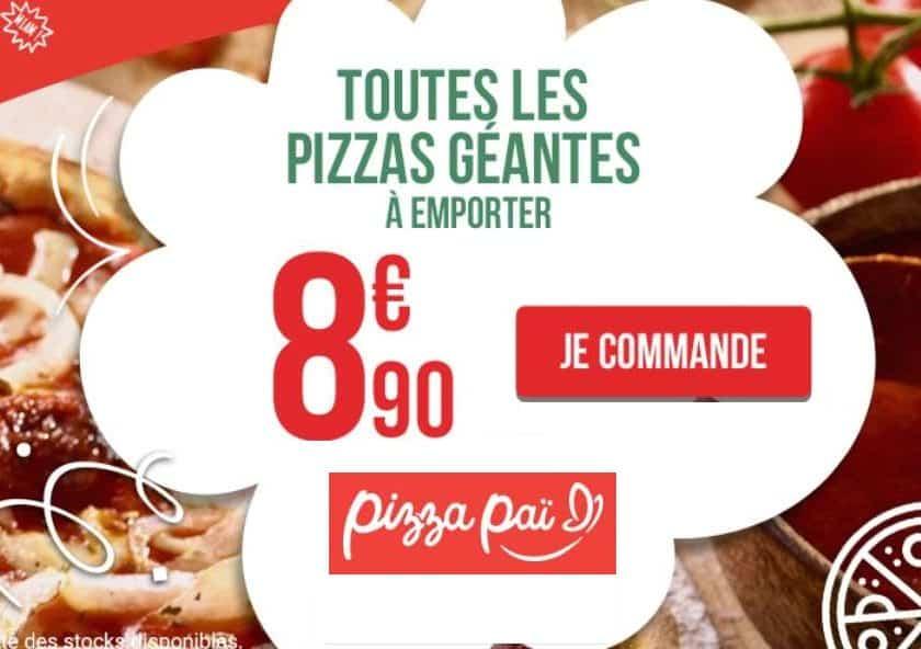 Toutes les grandes Pizza Pai à emporter à 8,90 €