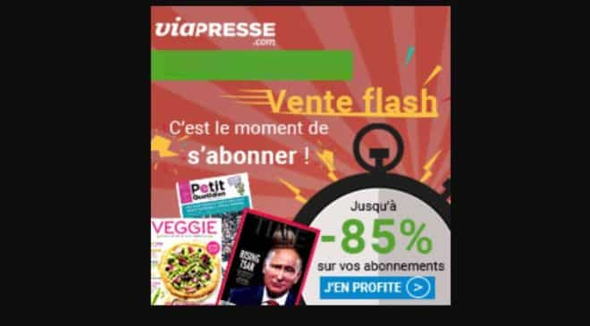 Vente flash abonnement magazine Via Presse