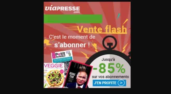 Vente flash abonnement magazine Via Presse