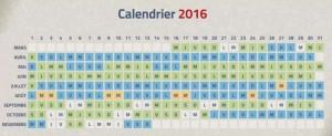 Vulcania calendrier periode
