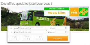billets de bus FlixBus Europe