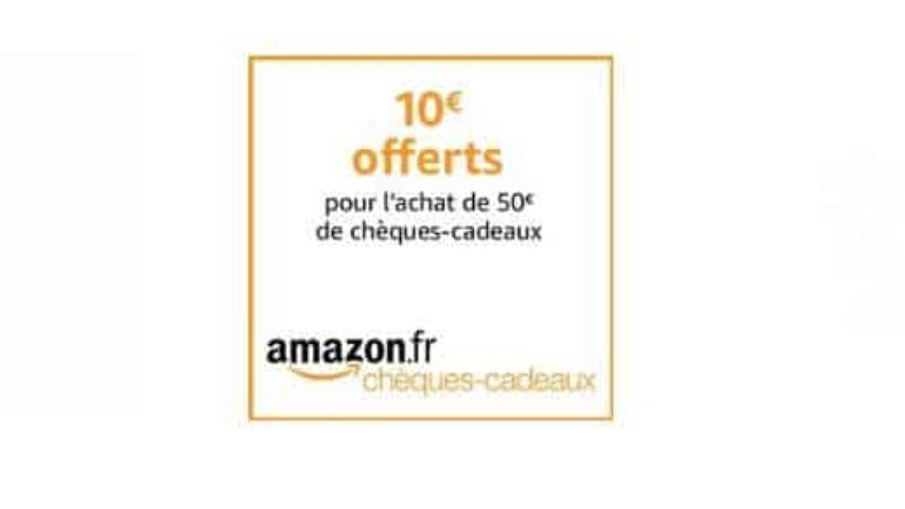 5c8e3bff0cb75 1 carte cadeau 50 euros Amazon achetée = 10 euros offerts | Bons Plans  Malins